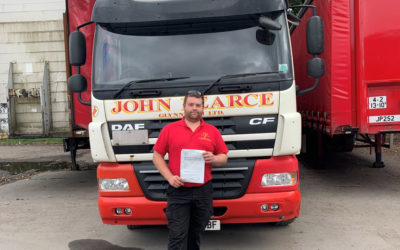 Congratulations to Steve Brooks on passing his class 2 test!